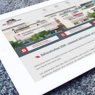 Création du webdesign du site Defiscalisation.immo