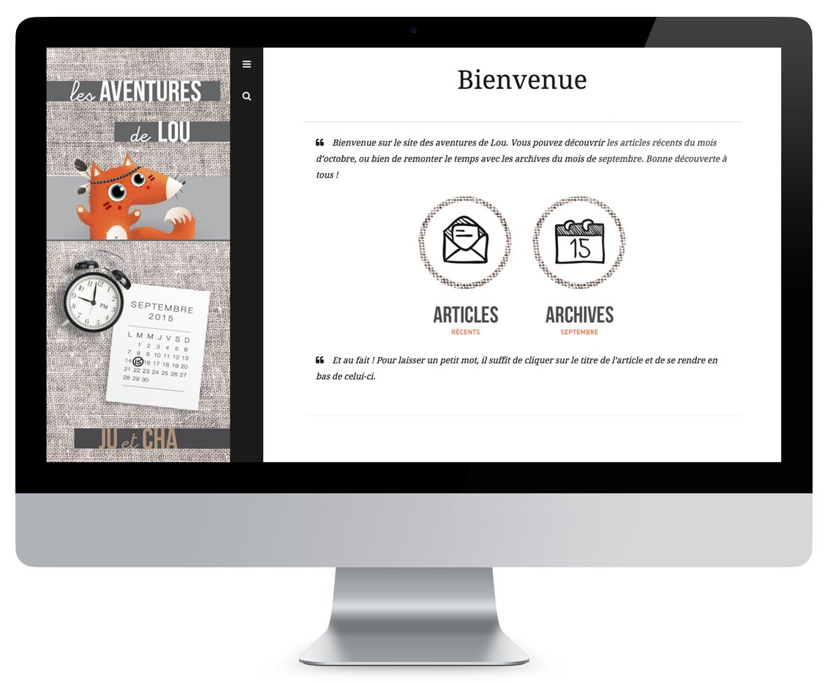Site Les Aventures de Lou
