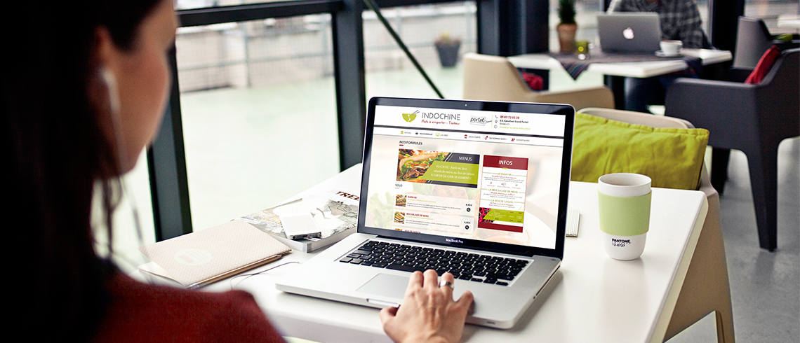 Webdesign site internet Indochine (traiteur vietnamien)