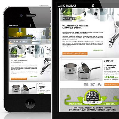 Newsletter pour le site Villatech.fr produits Cristel
