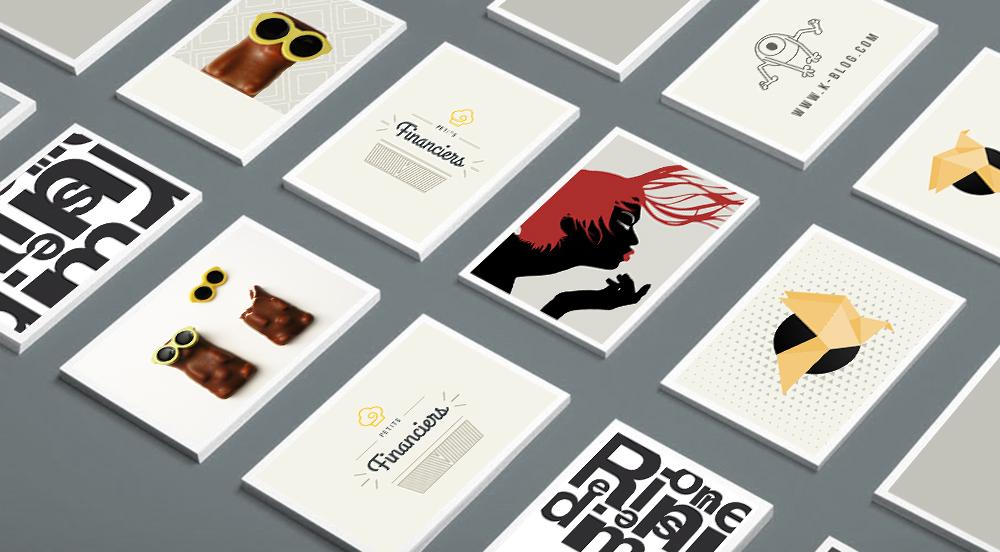 Mockup cartes illustrations
