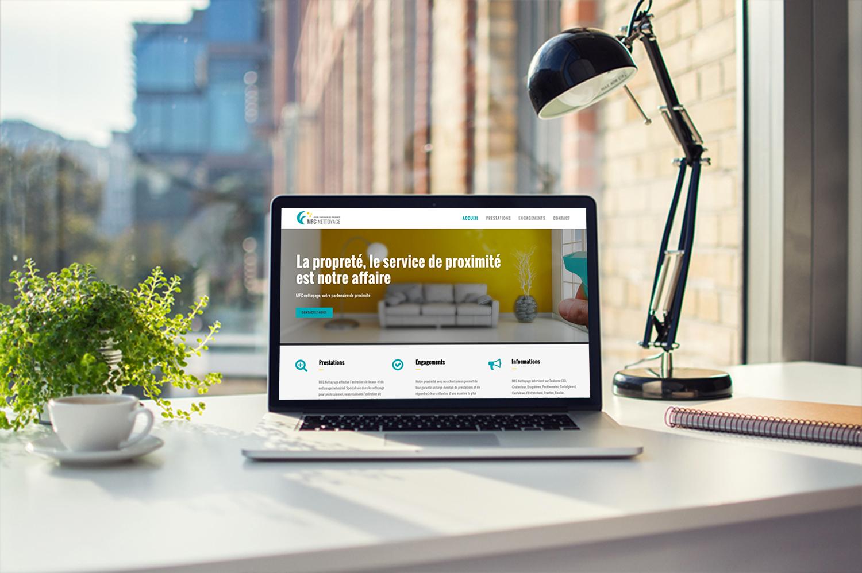 "Webdesign et intégration du site internet ""MFC nettoyage"""