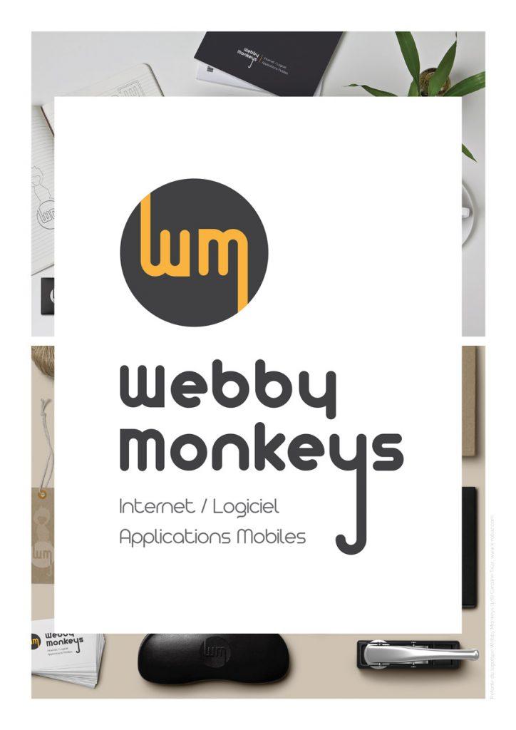 K-ROBAZ présentation refonte logo Webby Monkeys