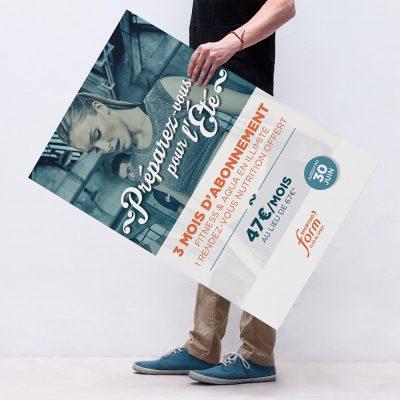 """Sporting Form campagne événementielle """"Prêt pour l'été"""" Affiche"""