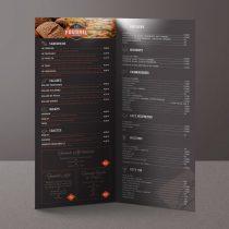 Mockup dépliant menu Le Fournil du Sporting