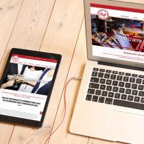 Mockup responsive site internet Pergo Sporting Village