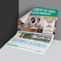 Mockup flyer A4 Sporting Immobilier