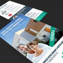 Mockup flyer Sporting Immobilier