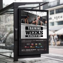 Mockup affiche Training Weeks Sporting Form'