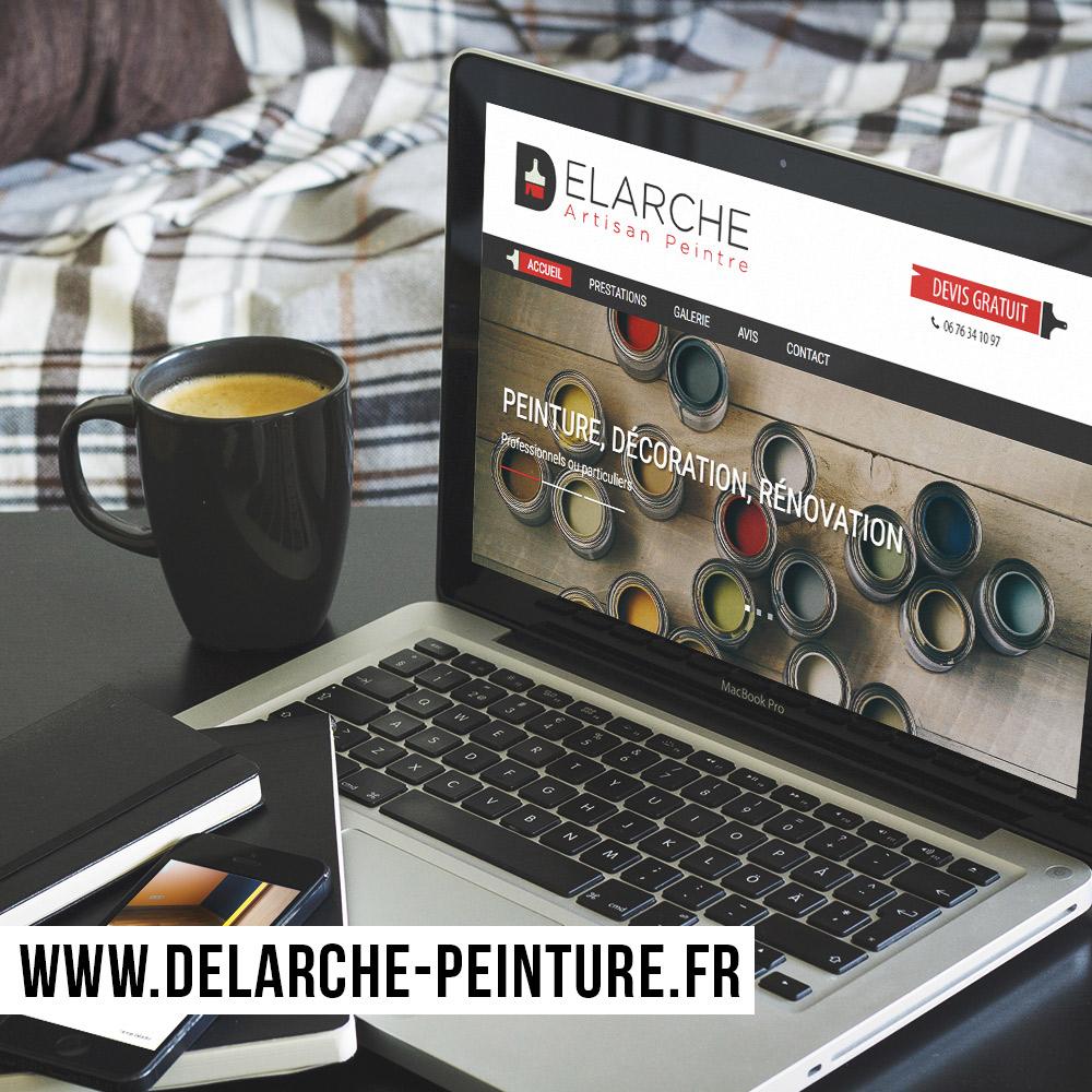 Webdesign et intégration du site internet Delarche Peinture