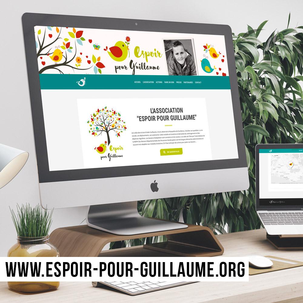 Webdesign et intégration du site internet Espoir pour Guillaume