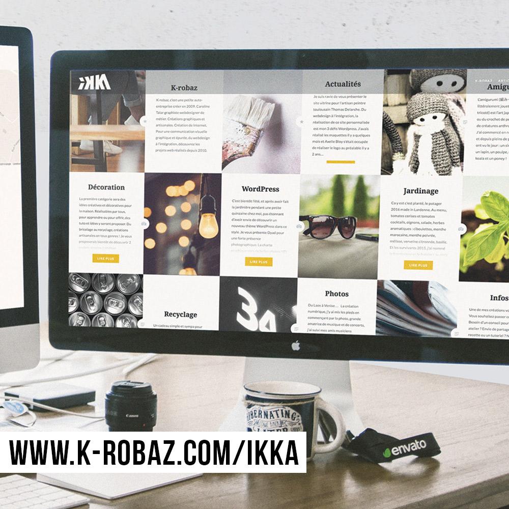 Webdesign et intégration du site internet IKKA by K-ROBAZ
