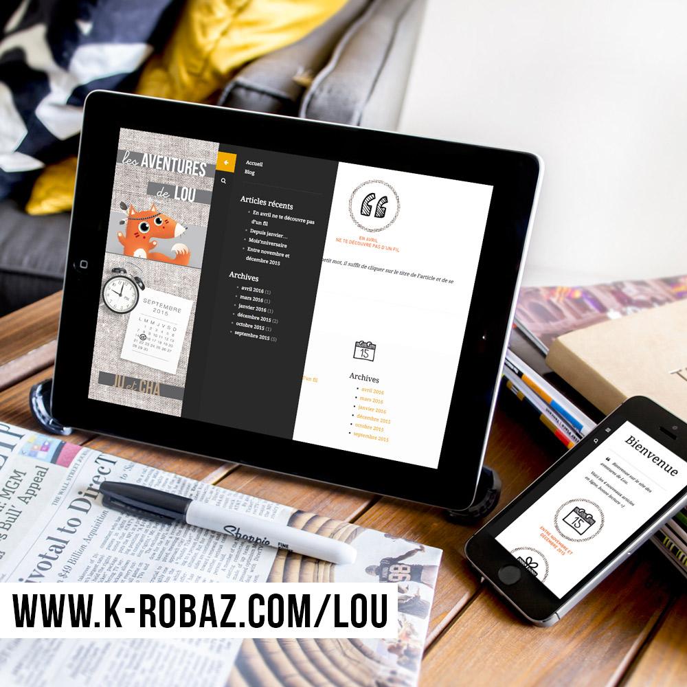 macbook-mockuWebdesign et intégration du site internet Les Aventures de Lou