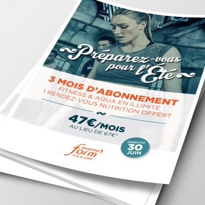 Visuel produit K-ROBAZ exemple flyer Sporting Form'