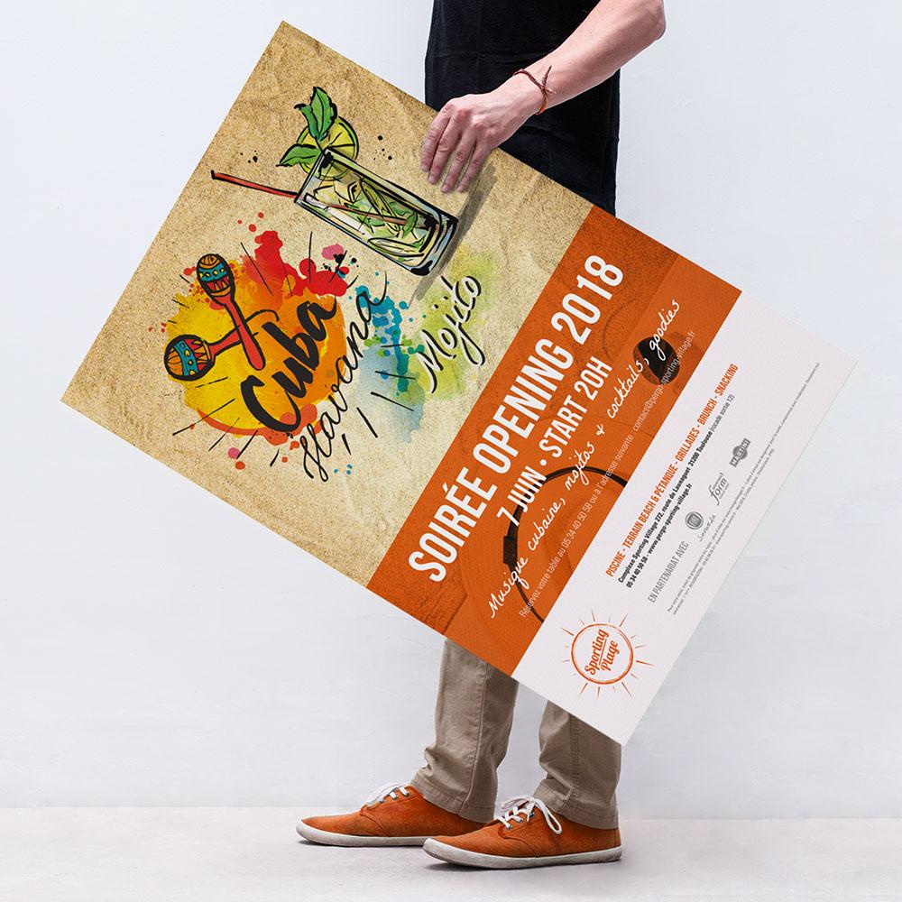 Pergo Sporting Plage campagne-evenementielle Opening Affiche