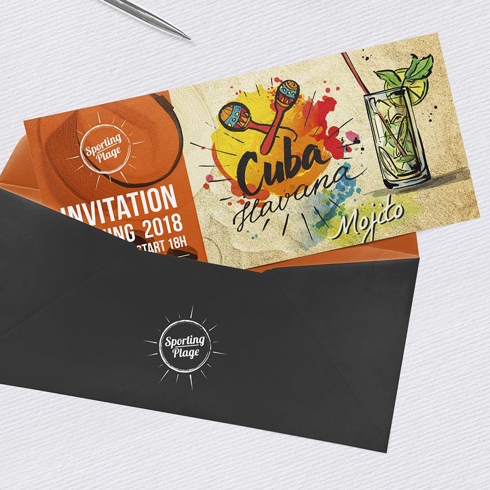Pergo Sporting Plage campagne-evenementielle Opening invitation
